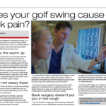 Get back on par- Dr Parkinson on golfer's back pain